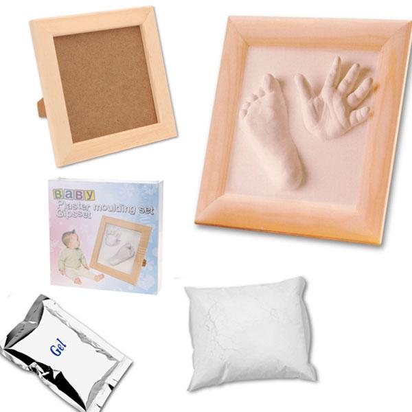 Baby-Gips-Abdruck-Gibsabdruck-Handabdruck-Gipsset-Gips-Set-mit-Rahmen-Kinder-NEU