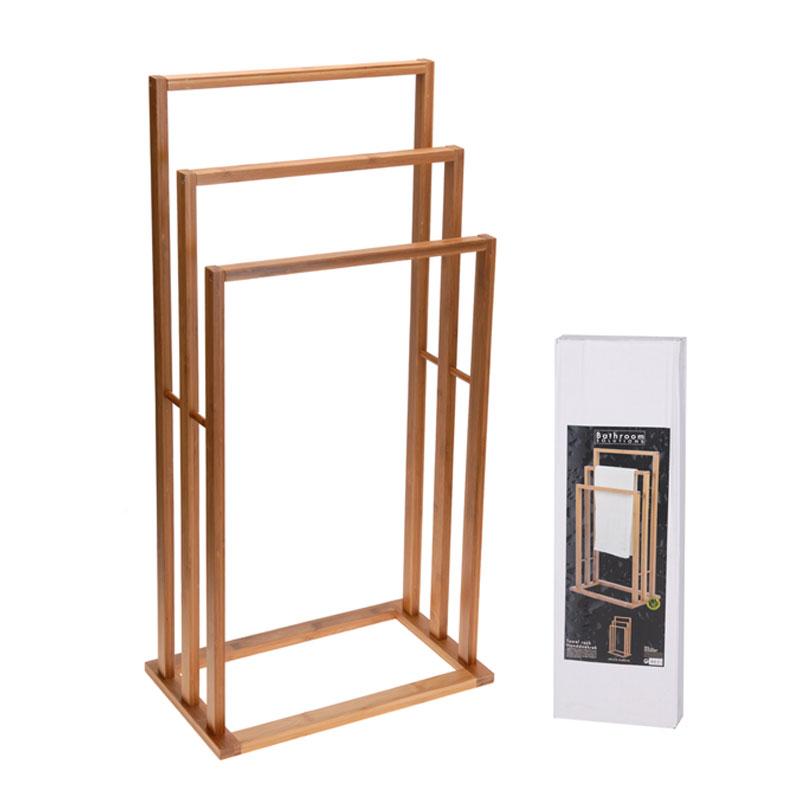 handtuchst nder bambus handtuchhalter handtuchstangen holz st nder dekorativ ebay. Black Bedroom Furniture Sets. Home Design Ideas