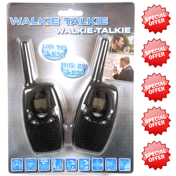 2x walkie talkie kinder funken walkie talkie funkger t. Black Bedroom Furniture Sets. Home Design Ideas