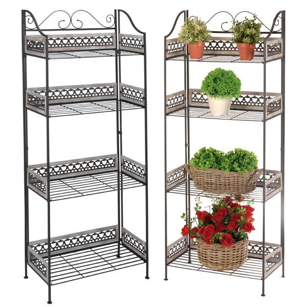 blumenregal pflanzen regal blumentreppe gartenregal blumenst nder pflanzentreppe. Black Bedroom Furniture Sets. Home Design Ideas