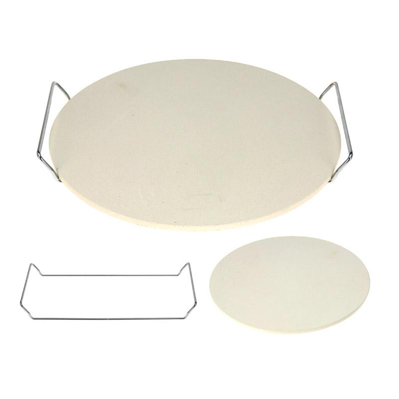 pizzastein mit k chenspachtel rechteckig backofen brotbackstein 38 x 30 5cm ebay. Black Bedroom Furniture Sets. Home Design Ideas
