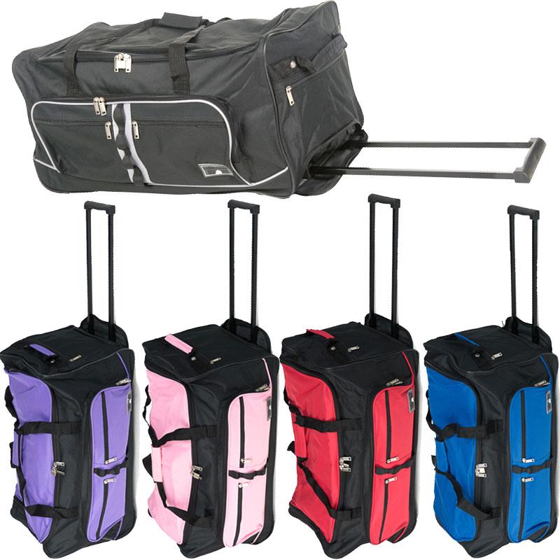 xxl reisetasche schloss 2 rollen trolley sporttasche 90l. Black Bedroom Furniture Sets. Home Design Ideas