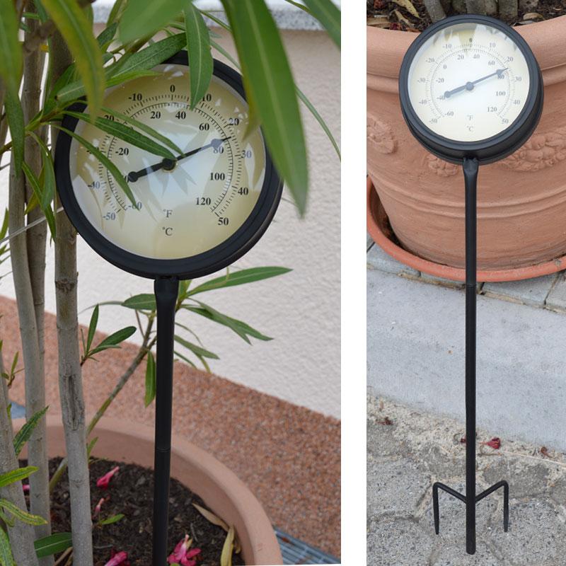 metall thermometer au enthermometer mit erdspie. Black Bedroom Furniture Sets. Home Design Ideas