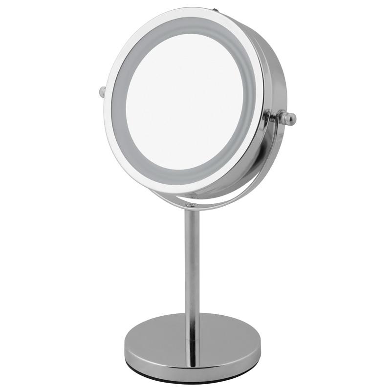 kosmetikspiegel led beleuchtet schmink spiegel standspiegel rasierspiegel 5 fach ebay. Black Bedroom Furniture Sets. Home Design Ideas